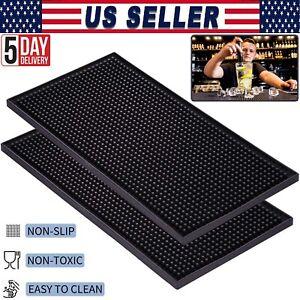 """NEW PVC Rubber Bar Service Mat Spill Mat for Counter Top, Non Slip - 18"""" x 12"""""""