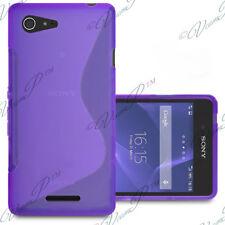 Housse Etui Coque TPU Silicone VIOLET Sony Xperia E3/ E3 Dual D2212 D2203 D2206
