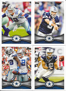 2012 Topps Football Dallas Cowboys Complete Team Set (10 cards including 1 RC)