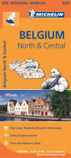 BELGIUM NORTH / CENTRAL  MAP - NEW MICHELIN 533 REGIONAL MAP - CURRENT EDITION