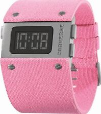 CONVERSE GIRLS PINK STRAP ACE BLACK LCD WATCH VR012690