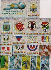 Panini copa america argentina 2011 todos los escudos de armas y glittzer...! nuevo!