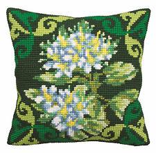 Collection D'Art Cross Stitch Cushion Kit; Green Ledum CD5125