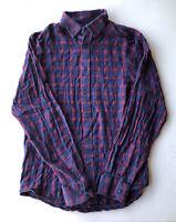 Men's Banana Republic Slim Fit Long Sleeve Plaid Shirt Pre-Owned Size M