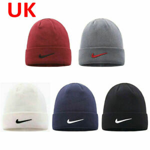 Nike Beanie Cap Hat Black White One Size Women Men Brand New Adjustable ON SALE
