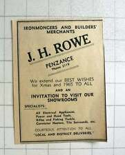 1964 Courteous Attention Given To All By Jh Rowe Penzance Ironmongers