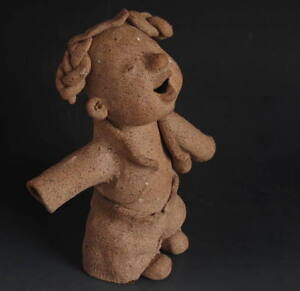 Chinese culture Modern Ethnic Style Statue: Earthenware rural Child