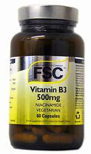 1 Bottle FSC 500mg Niacinamide Vitamin B3 60 Capsules for Joint Health
