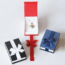 Magnetic Ribbon Pendant Boxes-  Blue