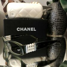 Chanel Limited Edition Eyeglasses 3155-H Pearl Emerald Green Frames VERY RARE!