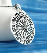 Compass Zodiac Wheel Pendant ONLY - Horoscope Astrology Sign 925 Silver wh372