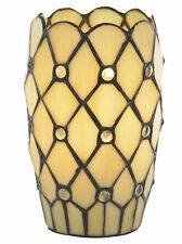 Tiffany Table Lamp Style Yellow JEWEL Vase Light With Honey Shade Litecraft