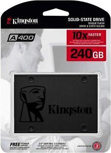 KINGSTON HARD DISK SSD STATO SOLIDO 2,5 A400 240GB SA400S37/240G SATA 6Gb/s