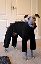 "dog pyjamas jumper whippet dinosaur all in one fleece size 20""- 22"" black & grey"
