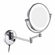 GURUN Wall Mounted Magnifying Bathroom Vanity Makeup Mirror with LED Light 7X 8""