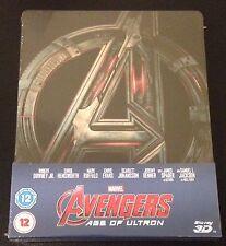 AVENGERS AGE OF ULTRON 3D Blu-Ray SteelBook UK Exclusive 2-Disc Set. OOP & Rare!