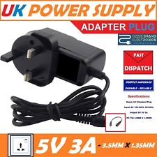 UK 5V 3A AC-DC Power Supply Adapter Charger To Fit Notebook Medion E4242 MD62050