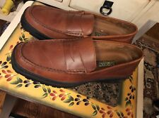 "RJ Colt ""Hollywood Men's Brown Leather penny Loafer Slip On Shoes - Size 11 M"