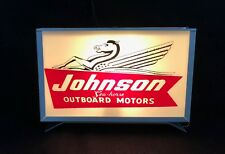 Johnson Seahorse Reproduction Outboard Motor Lighted Advertising Sign Retro