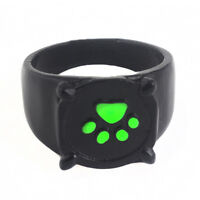 1Pc Cat Noir Cartoon Green Pawprint Black Cat Metal Ring For Cosplay Fashion