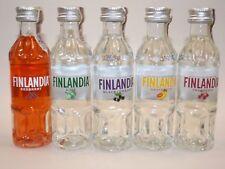 Finlandia Vodka 37,5% set 5 x 5 CL mini bouteilles Bottle miniature BOTTELA