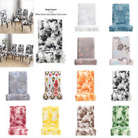 Flowers Elastic Chair Cover Stretch Home Hotel Dining Seat Spandex Slipcovers