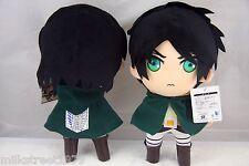 "Attack On Titan Anime 12"" Eren Jaeger Plush Doll Toy Figure Gift US Ship"