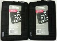 """Lot of(2)COCOON CPG8BK 7.55"""" x 10.5"""" Grid-It Organizer for pen,notepad,cellphone"""