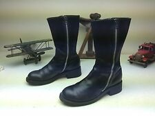 MADE IN SPAIN DKNY BLACK LEATHER DOUBLE ZIPPER BEATLE BOOT SIZE 9 D