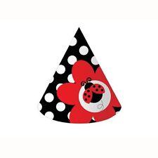 """""""LADYBUGS""""      Pack of 8 - Ladybug Fancy Party Hats!"""