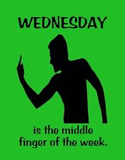 METAL REFRIGERATOR MAGNET Wednesday Middle Finger Of Week Office Humor Family