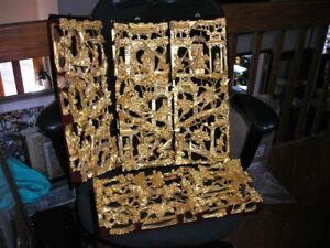 "L Details about  /Chinese Antique Wood Carving Panels 12 pcs lot /"" 14/"" #MD171"