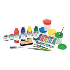 Melissa & Doug Easel Accessory Set - Paint, Cups, Brushes, Chalk, Paper, Dry-Era