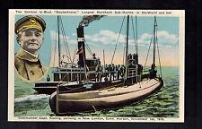 Mint German Merchant U Boat Submarine picture Postcard Deutschland Koenig  WW 1