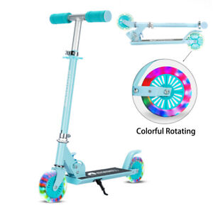 Kid 2 Wheels Folding Push Scooter 3 Adjustable Steps  Scooter Gift