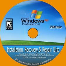 Windows XP Professional 32 Bit inkl. sp3 Installation Neuinstallation Recovery Reparatur PCCD NEU