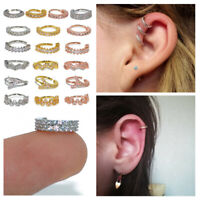 1PC New Cartilage Tragus Daith Conch Hoop Earring Nose Ring CZ Ear Piercing Gift