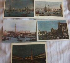 5 POSTCARDs of OLD MASTERS VENETIAN Scenes (Various Artists)
