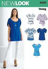 NEW LOOK SEWING PATTERN Misses' EASY TOPS  OR TUNICE SIZE 8 - 18 6025