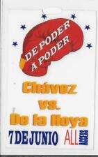 OSCAR DE LA HOYA VS JULIO CESAR CHAVEZ JUNE 7, 1996 FIGHT RARE ALL ACCESS PASS