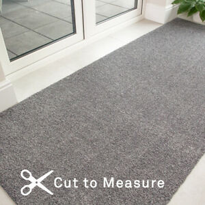 Silver Grey Washable Doormat Non Slip Long Dirt Catcher Hall Runner - Sold By FT