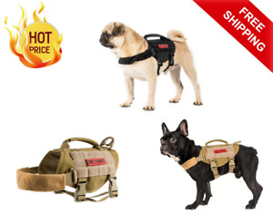 Onetigris Tactical Vest Dog Harness Molle Best Nylon With Handle For Small Dogs