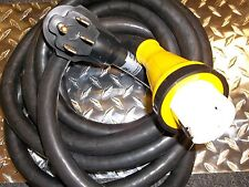 RECREATIONAL VEHICLE POWER SUPPLY CORD REMOVABLE 50 AMP RV TRAILER MOTORHOME