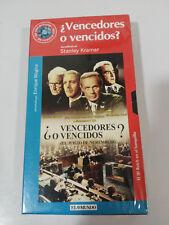 ¿ VENCEDORES O VENCIDOS ? JUICIO NUREMBERG STANLEY KRAMER VHS CASTELLANO NUEVA