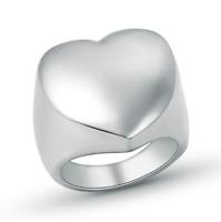 Anello Personalizzato Cuore Fede Fascia Donna Acciaio Inox Steel Incisione