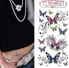 New Design Flash Tattoo Removable Waterproof Butterfly Stickers Body Art Tatoo #