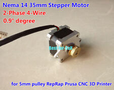NEMA 14 2-phase 4-wire Stepper Motor 0.9° for 3D printer 5mm pulley RepRap Prusa