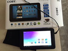 """Coby Kyros Android 4.0 7 """" Tablet  (only works being plugged in)"""