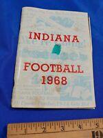 Indiana University IU Hoosiers VTG Football 1968 Official Yearbook Schedule