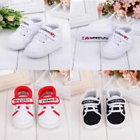 Baby Infant Kids Boys Girsl Soft Sole Canvas Sneaker Toddler Letter Print Shoes